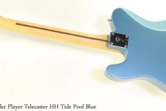 Fender Player Telecaster HH Tide Pool Blue Full Rear View