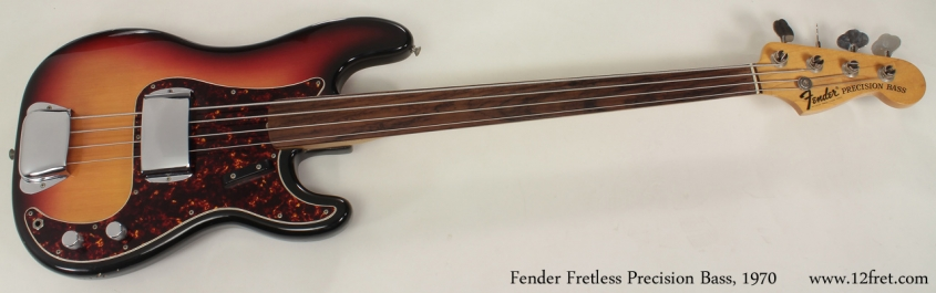 1970 Fender Fretless Precision Bass full front view