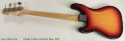 1970 Fender Fretless Precision Bass full rear view