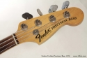 1970 Fender Fretless Precision Bass head front view