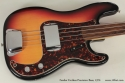 1970 Fender Fretless Precision Bass top