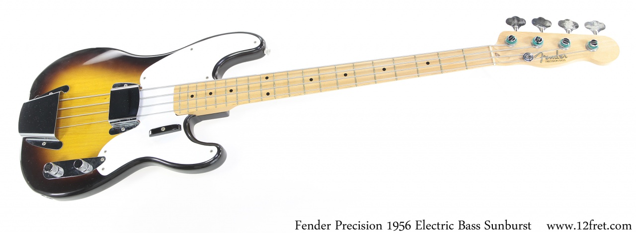 Fender Precision 1956 Solidbody Electric Bass Sunburst Full Front View