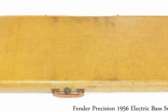 Fender Precision 1956 Solidbody Electric Bass Sunburst Case Bottom View