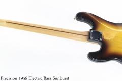 Fender Precision 1956 Solidbody Electric Bass Sunburst Full Rear View