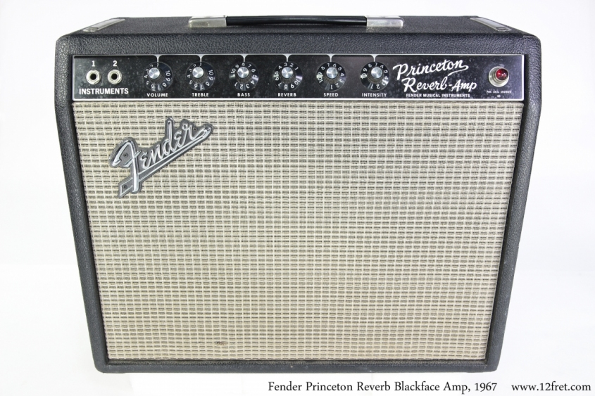Fender Princeton Reverb BlackFace Amp, 1967 Full Front View