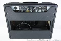 Fender Princeton Reverb BlackFace Amp, 1967 Full Rear View