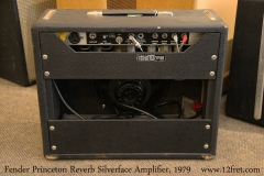 Fender Princeton Reverb Silverface Amplifier, 1979 Full Rear View