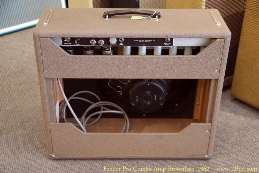 Fender Pro Combo Amp Brownface, 1962 Full Rear View