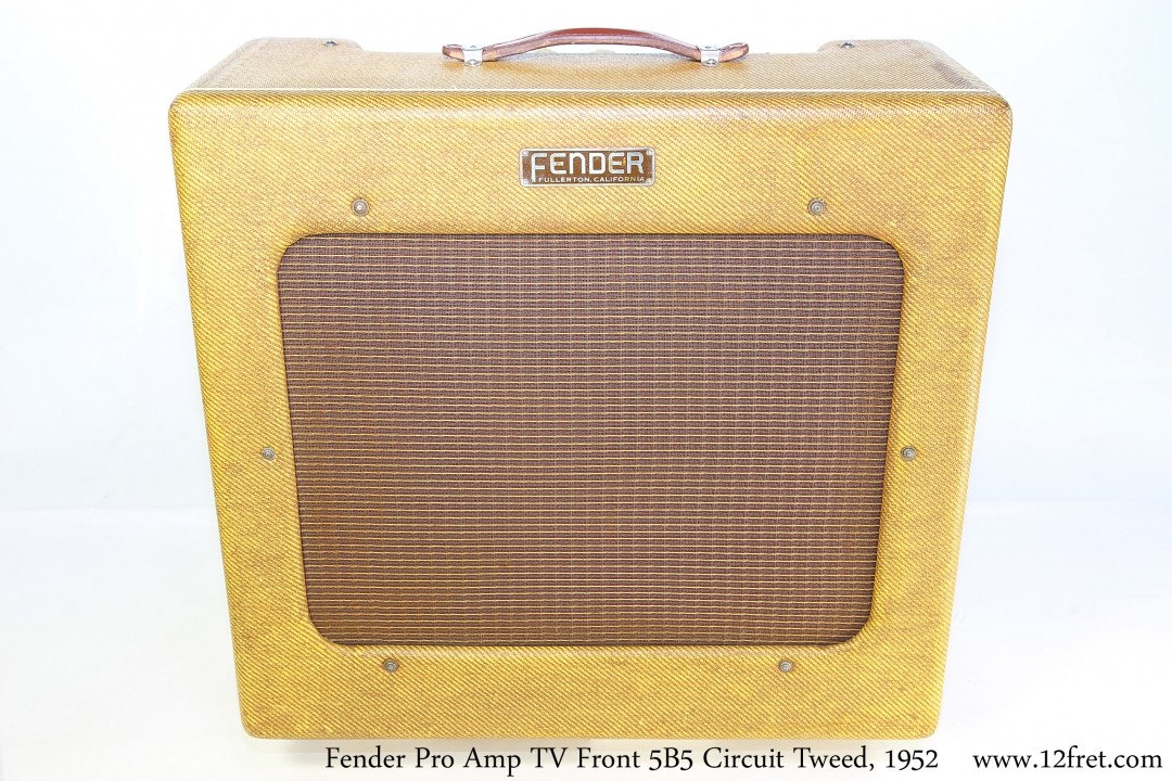Fender Pro Amp TV Front 5B5 Circuit Tweed, 1952 Full Front View