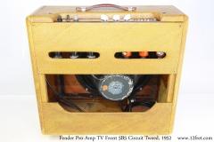 Fender Pro Amp TV Front 5B5 Circuit Tweed, 1952 Full Rear View