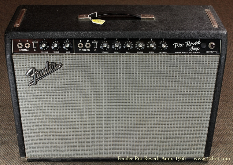 Fender Pro Reverb Blackface 1966 Amp front view