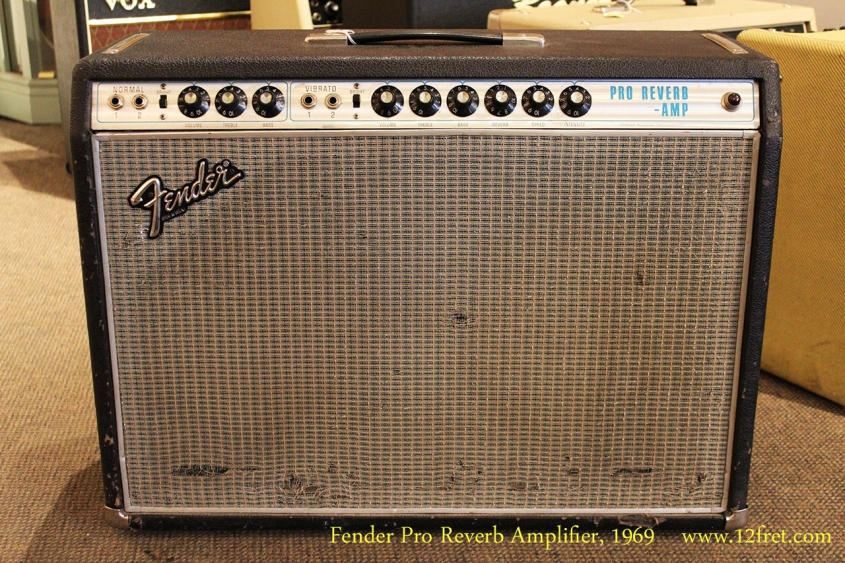 Fender Pro Reverb Amplifier, 1969 Full Front View