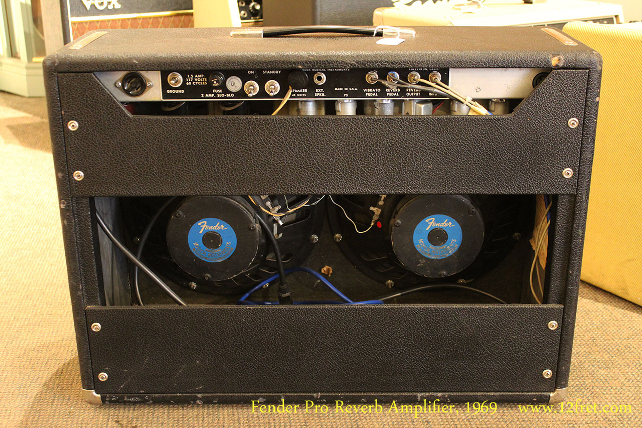 Fender Pro Reverb Amplifier, 1969 Full Rear View