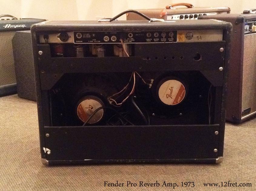 Fender Pro Reverb Amp, 1973 Full Rear View