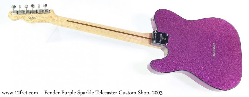 Fender Purple Sparkle Telecaster Custom Shop, 2003 Full Rear View
