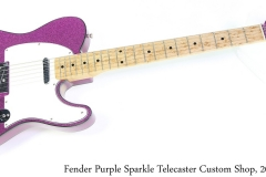Fender Purple Sparkle Telecaster Custom Shop, 2003 Full Front View