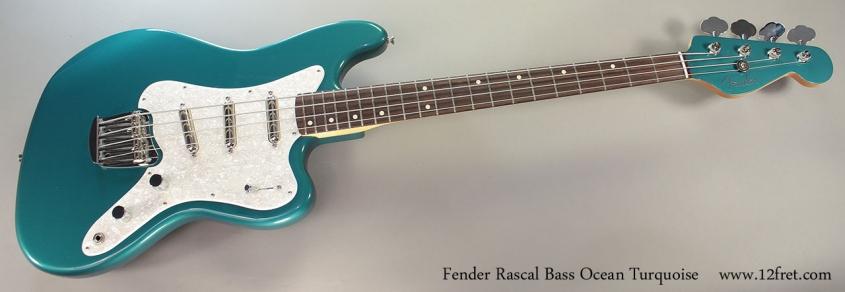 Fender Rascal Bass full front view