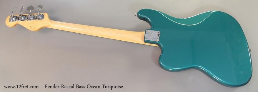Fender Rascal Bass full rear view