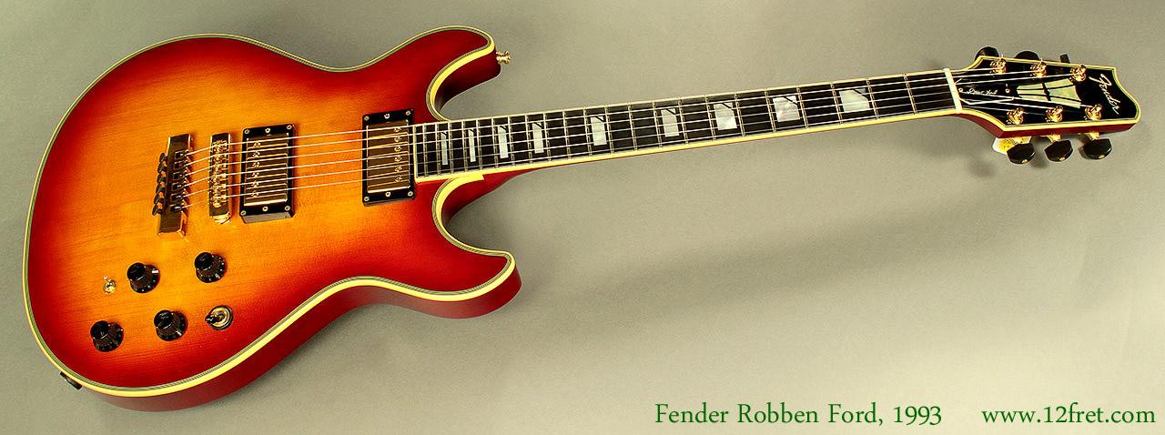 Fender Robben Ford Model Sunburst 1993 Full Front View