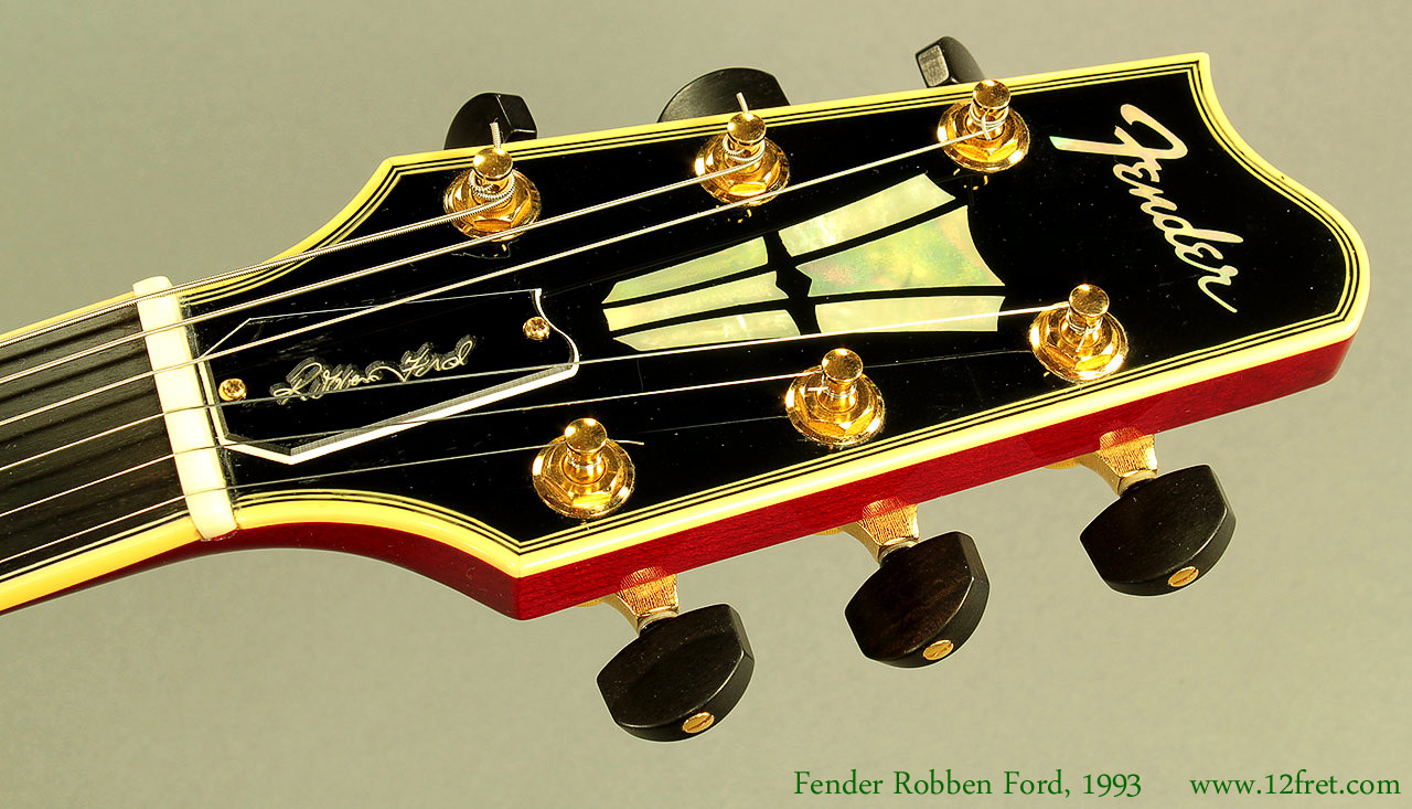 Fender Robben Ford Model Sunburst 1993 Head Front View