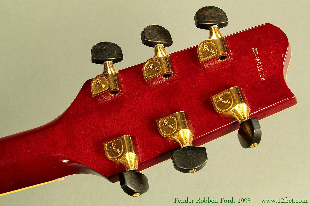 Fender Robben Ford Model Sunburst 1993 Head Rear View