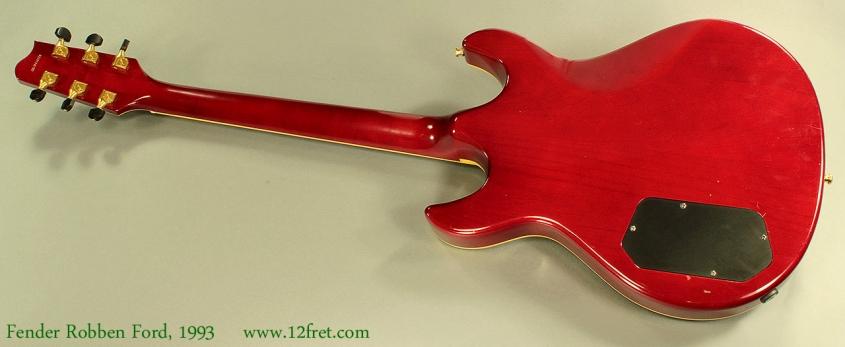 Fender Robben Ford Model Sunburst 1993 Full Rear View