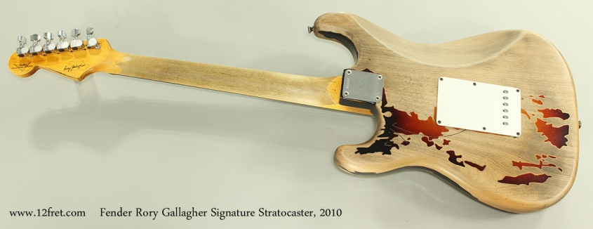 Fender Rory Gallagher Signature Stratocaster, 2010 Full Rear View