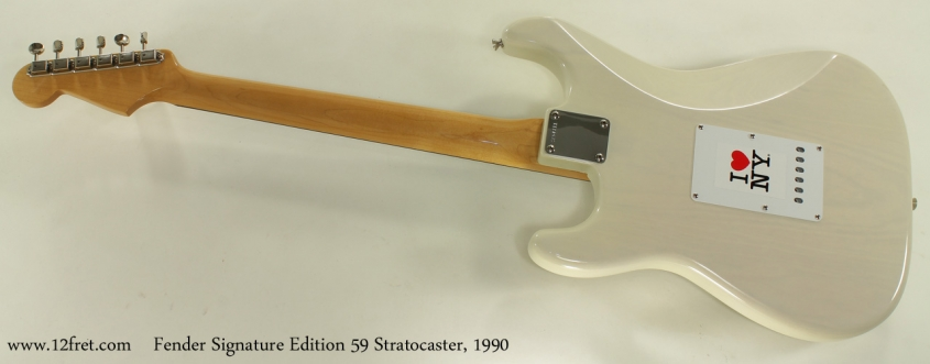 Fender Signature Edition 59 Strat full rear view
