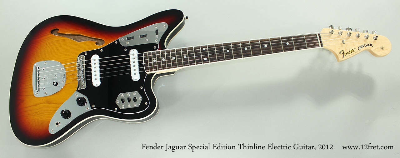 Fender Jaguar Special Edition Thinline Electric Guitar, 2012 Full Front View
