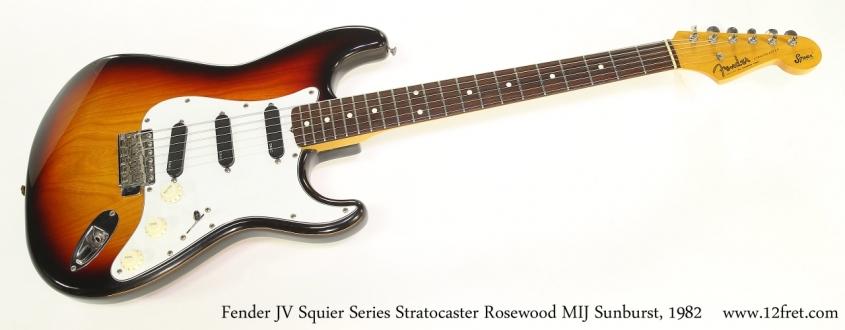 Fender JV Squier Series Stratocaster Rosewood MIJ Sunburst, 1982  Full Front View