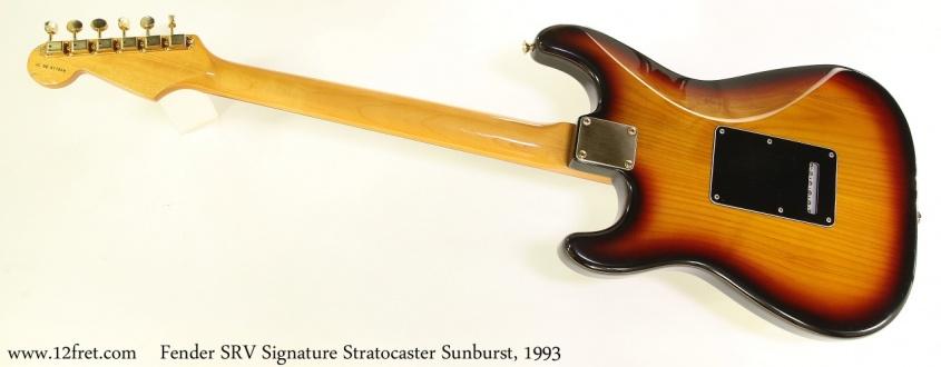 Fender SRV Signature Stratocaster Sunburst, 1993 Full Rear View