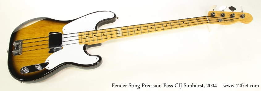 Fender Sting Precision Bass CIJ Sunburst, 2004   Full Front View