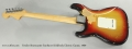 Fender Stratocaster Sunburst Solidbody Electric Guitar, 1969 Full Rear VIew