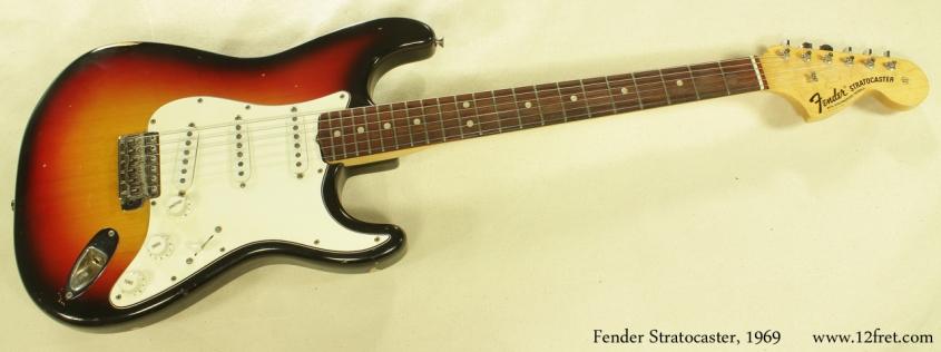 Fender Stratocaster Sunburst 1969 full front view