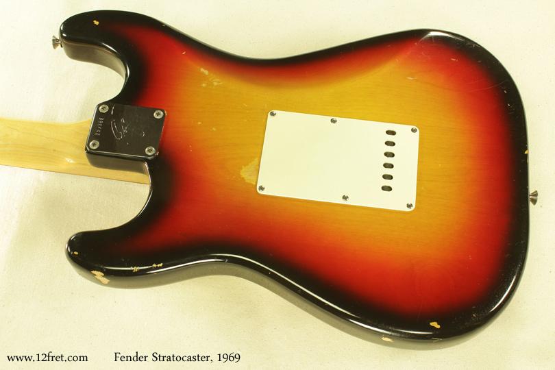 Fender Stratocaster Sunburst 1969 back