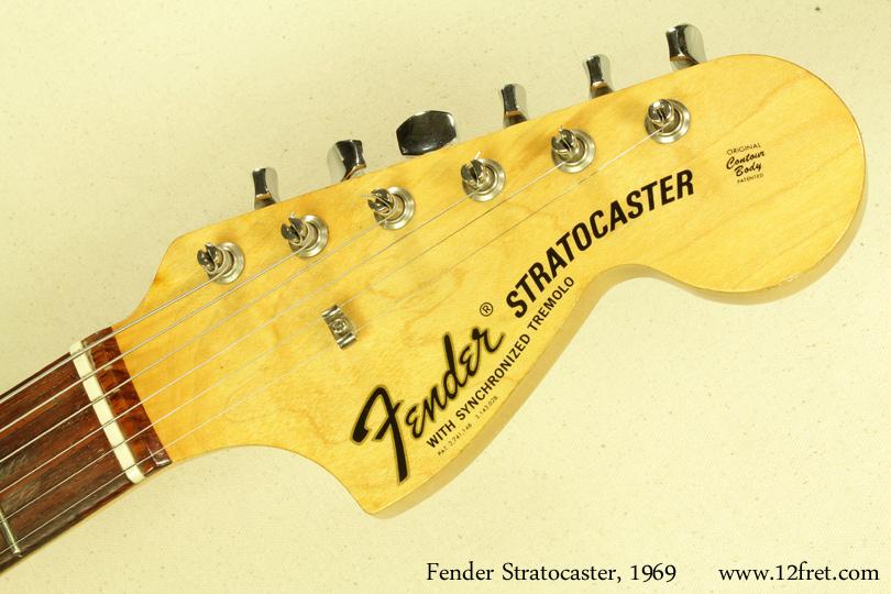 Fender Stratocaster Sunburst 1969 head front