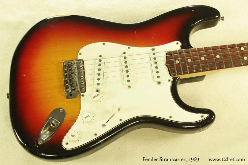 Fender Stratocaster Sunburst 1969 top