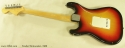 Fender Stratocaster Sunburst 1969 full rear view