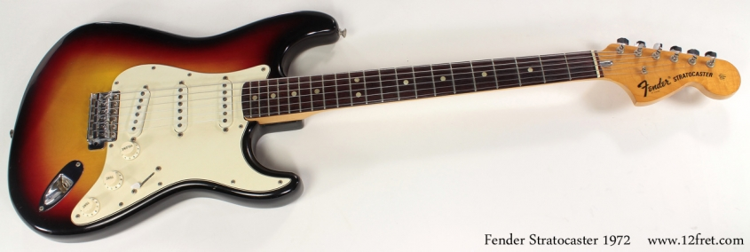 Fender Sunburst Stratocaster 1972 full front view