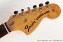 Fender Sunburst Stratocaster 1972 head front