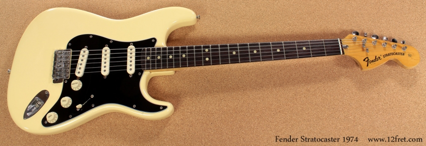 Fender Strat 1974 Refinished full front view