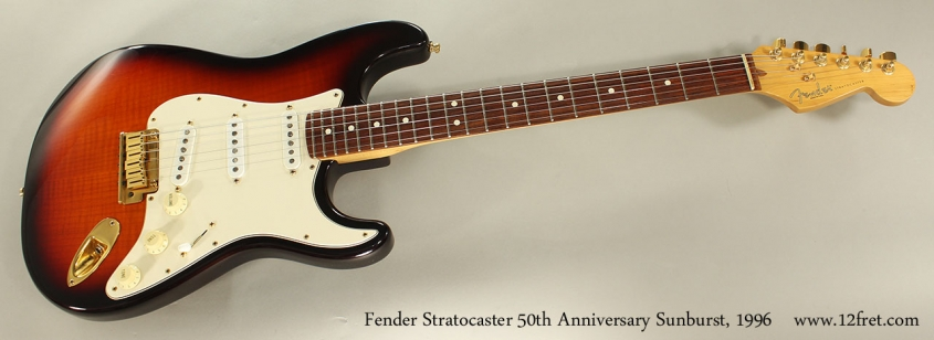 Fender Stratocaster 50th Anniversary Sunburst, 1996 Full Front View