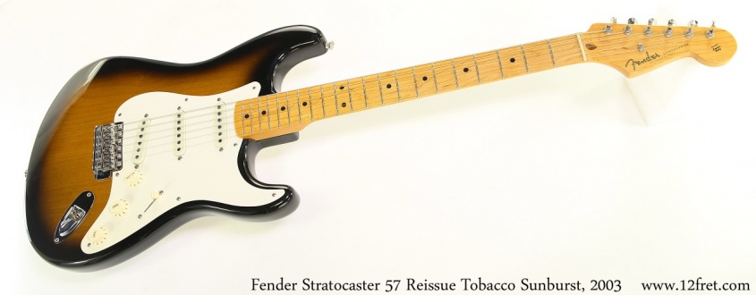 Fender Stratocaster 57 Reissue Tobacco Sunburst, 2003 Full Front View