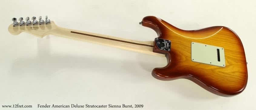 Fender American Deluxe Stratocaster Sienna Burst, 2009  Full Rear View