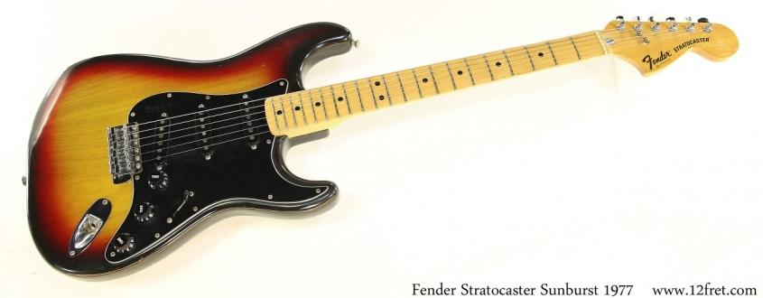 Fender Stratocaster Sunburst 1977 Full Front View