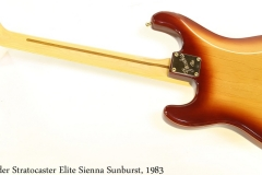 Fender Stratocaster Elite Sienna Sunburst, 1983 Full Rear View