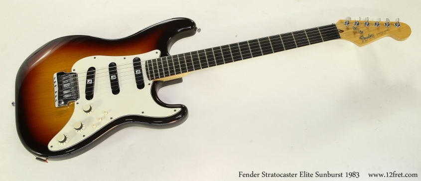 Fender Stratocaster Elite Sunburst 1983   Full Front View