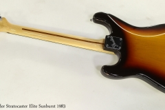Fender Stratocaster Elite Sunburst 1983  Full Rear View