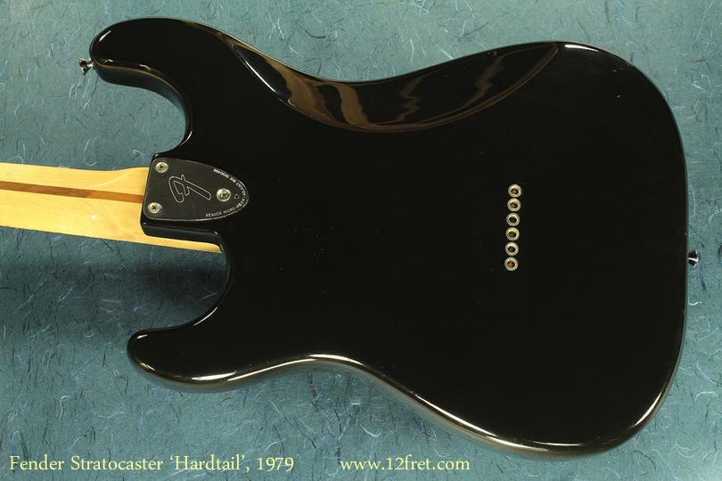 Fender Hardtail Stratocaster, 1979 back