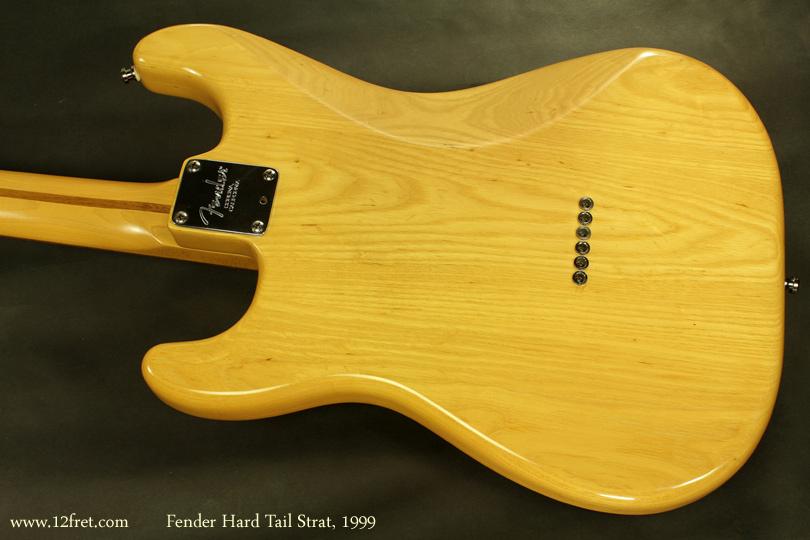 Fender Hardtail Stratocaster 1999 back